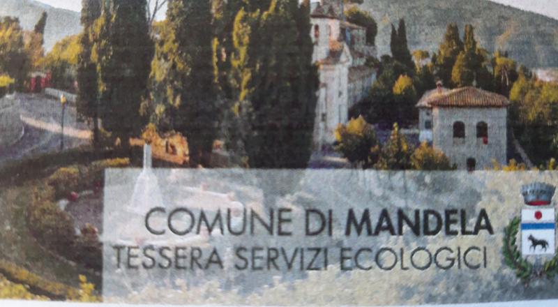 DISTRIBUZIONE TESSERE SERVIZI ECOLOGICI – BORGO MANDELA
